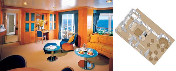 Prinsendam holland america line for Piani cabina personalizzati
